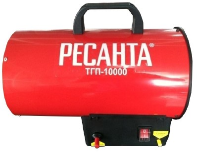 Тепловая газовая пушка, 10 кВт., 0,73 кг/ч., 0,6 мм., 320 м.куб/ч., 0,7 Бар, 95 град.С
