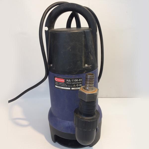 Насос дренажный, 1100Вт., 220 В.,50 Гц., 14000 л/час.,8,5 м., 7 м., 35 мм.