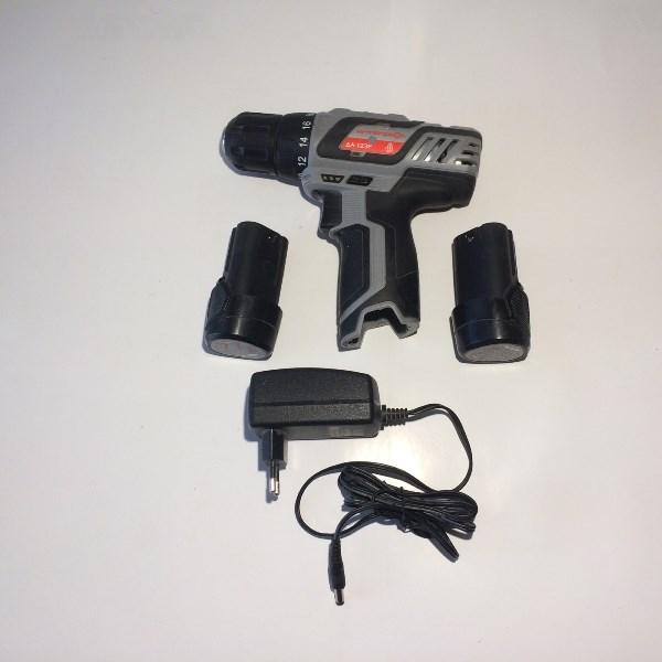 Машина ручная электрическая сверлильная аккумуляторная, 12В,2,0 Li-ion, 0-1400 об/мин, 10-20мм, 2 ак, коробка