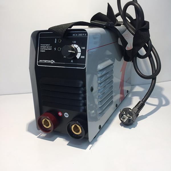 Инверторный аппарат ручной электродуговой сварки ММА, 9,4кВА, 20-200 А, 1,6-5,0 мм