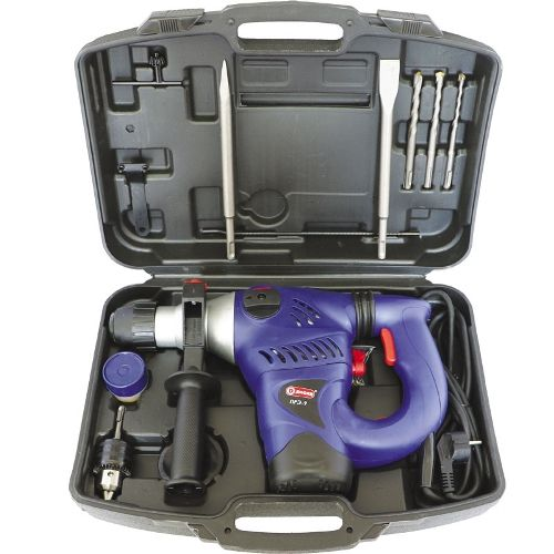 Перфоратор ручной электрический,1500 Вт,0-750 об/мин,0-3900 уд/мин