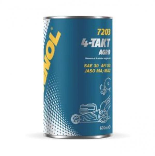 Масло моторное для четырехтактных двигателей, MANNOL 4-Takt Argo SAE 30 7203, 600мл, METAL