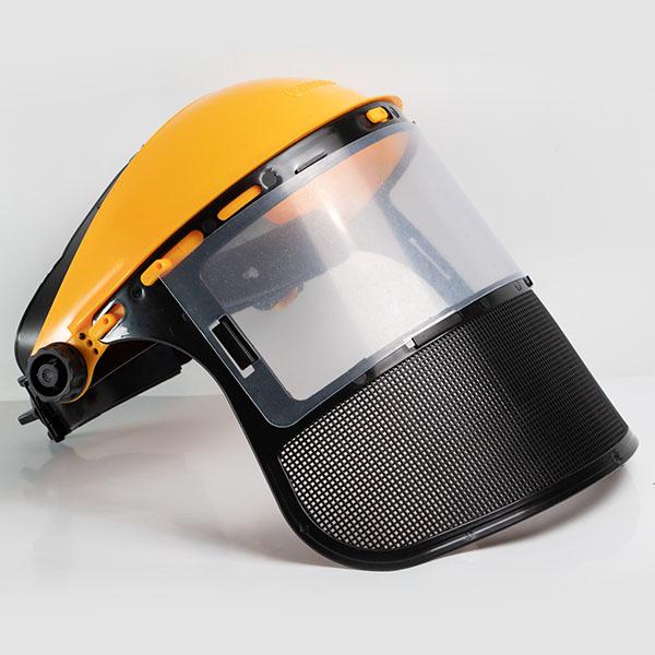 Маска защитная с комбинированным защитным экраном (пластикпрозрачный+сетка)