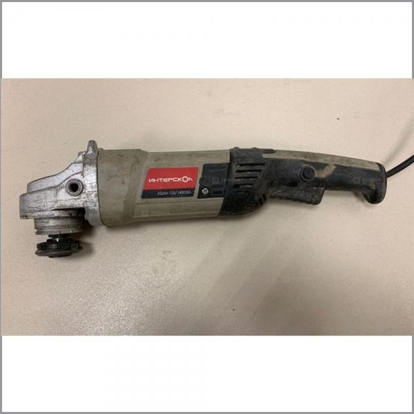 Машина ручная электрическая шлифовальная угловая, 1400Вт, 125мм, 3000-10000об/мин, 6,4 А, 220В.