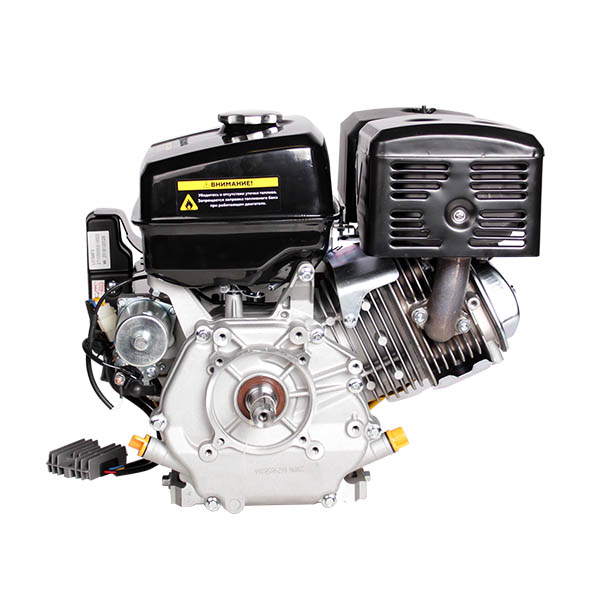 Двигатель бензин., с гор.валом 15л.с.,420 см3, диам. 25 мм. шпонка, эл.старт., выход 12В/80Вт