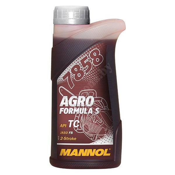 Масло моторное для двухтактных двигателей MANNOL 7858 Agro Formula S API TC , синтетическое, 0.5л.