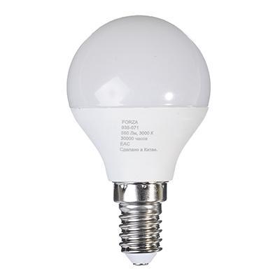 Лампа светодиодная G45 7W, Е14, 560lm 2700K FORZA