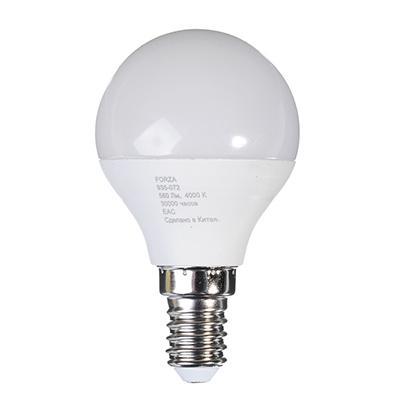 Лампа светодиодная G45 7W, Е14, 560lm 4200K FORZA