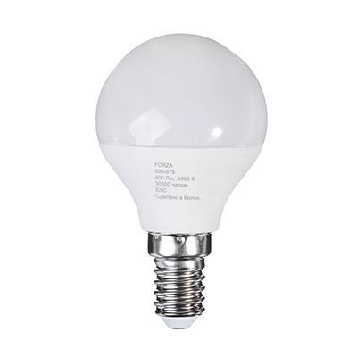 Лампа светодиодная G45 5W, Е14, 400lm 4200K FORZA
