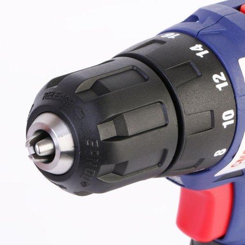 Дрель ручная электрическая аккумуляторная,14,4В.,18 ступ.,35 Нм.,Li-ion ,2Ач.,0-400/0-1400об/мин.