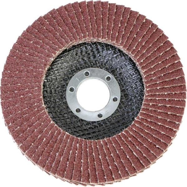 Круг лепестковый абразивный торцевой d 125 x 22,2мм, P80