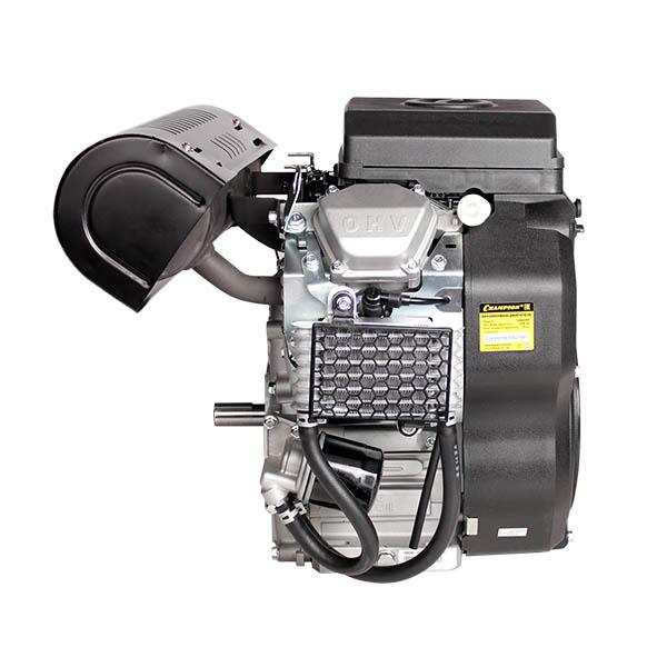 Двигатель бензин., с гор.валом 21л.с.,678 см3, диам. 25 мм. шпонка, эл.старт., выход 12В/300Вт