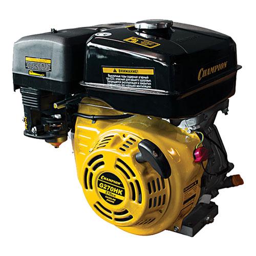 Двигатель бензин., с гор.валом 9л.с.,270 см3,l диам. 25,4 мм. шпонка