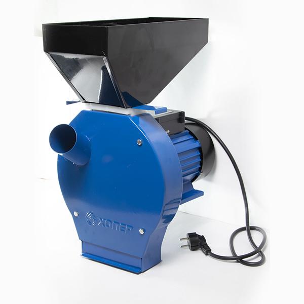 Измельчитель зерна Хопер, 250 кг/ч(зерно), 100 кг/ч(пачатки), 220В/50Гц, 2500 Вт, кл. IP 44, 2900 об/мин.