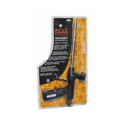Пистолет для монтажной пены, нерж. сталь, курок и ручка пластмассовые, диам. сопла 2мм., ствол 190мм