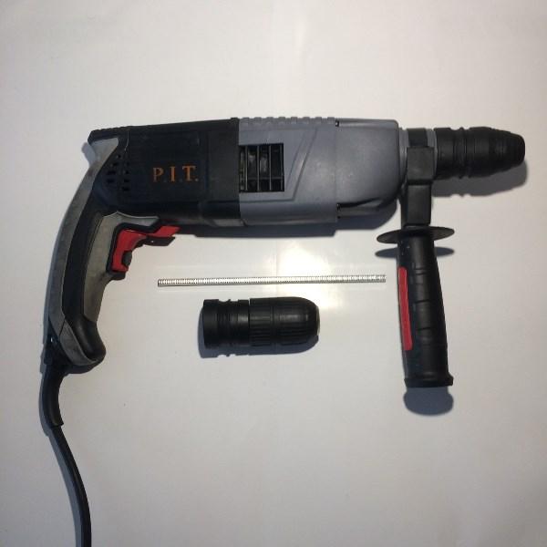 Перфоратор, 3-реж. гор., 850 Вт., 2,4 дж. SDS+, быстросъемный патрон
