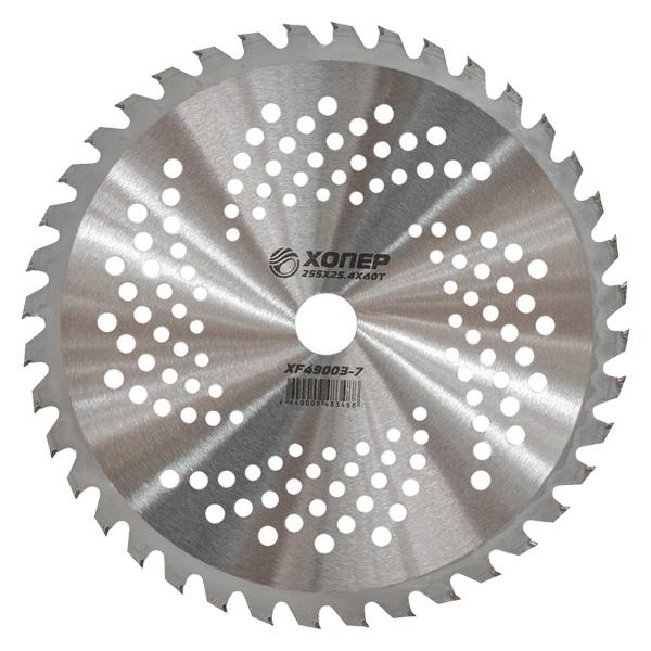 Нож для триммера, Хопер XF49003-VII, 255*25,4*40Т (кружочки)