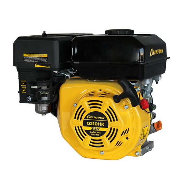 Двигатель бензин.,с горизонт. валом, 7л.с./3600об/мин., 212 см.куб., диаметр 19мм шпонка