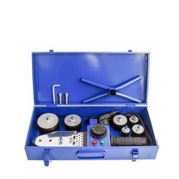 Аппарат для ручной раструбной(муфтовой) сварки пластиковых труб 2000 Вт., 220-230В/50Гц., 20.25.32.40.50.63мм., 6 насадки