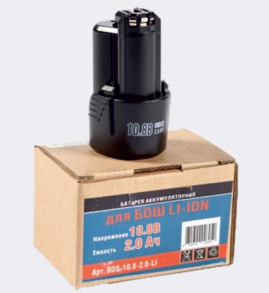 Аккумулятор, Li-ion, 10,8V, 2,0AН, Bosch (PMF 10.8 LI, PSM 10.8 L, PSR 10.8 Li-2)