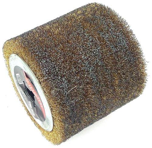 Щетка для щеточношлифовальных машин, полировальная, войлочная (Ф110 x100mm) для окончательной полировки и придания блеска