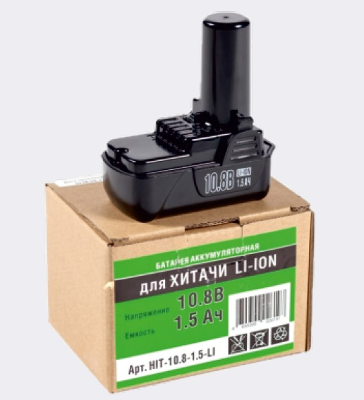 Аккумулятор, Li-ion, 10,8V, 1,5AН Hitachi (BCL 1015, BLC1015)