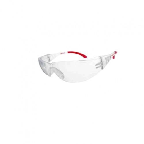 Защитные очки прозрачные, прорезиненные дужки