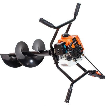 Мотобур 2-х тактный, 2,2 кВт, об/двиг 63 см, 8000 об/мин, четырех-ручный, бак 1.2л