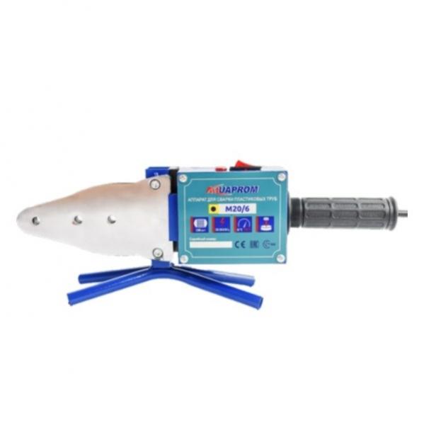 Аппарат для ручной раструбной(муфтовой) сварки пластиковых труб 2300 Вт., 220-230В/50Гц., 20.25.32.40.50.63мм., 6 насадки